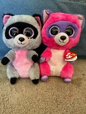 "Set Of 10"" Rocco And Roxie Beanie Boos"