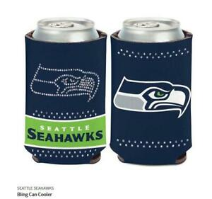 Seattle Seahawks Ladies Tin Coolers NFL Football Can Cooler Rhinestone