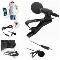 3.5mm Hands free Clip on Mini Lapel Microphone Mic for Computer PC Smart Phone