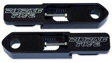 "Suzuki SV1000S Bolt On Swingarm Extensions Billet Extended 2-8"" Black 2003-2007"