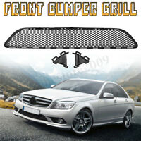 Front Bumper Grille Grill Mesh Lower For Mercedes-Benz C-Class AMG W204