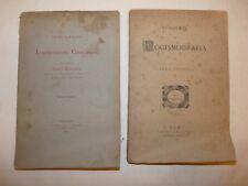 MATEMATICA RAGIONERIA - 2 opere Carlo Cerboni LOGISMOGRAFIA 1878 + Elementi 1879