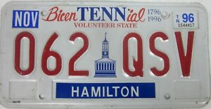 TENNESSEE BICENTENNIAL licence/number plate US/United States/USA/American 062QSV