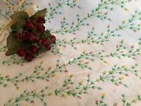 French Vintage Double Flat Sheet Double Petite Flowers Soft Quality Condition