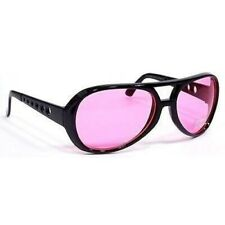 NWT Hot Celebrity Vintage Style Elvis Rock Aviator Retro Sunglasses Pink Lens