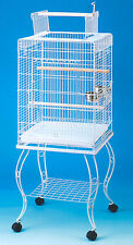 "Large 20 Inch Parrot Bird Cage Top Play With Stand Wheel 20x20x57""H WTE-248"