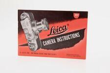 Leica Camera & Lens Instruction Manual