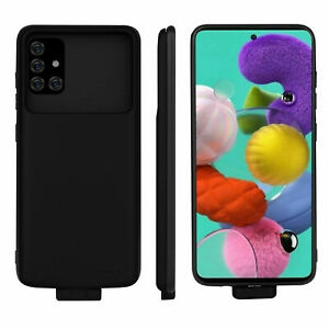 5000mAh Battery Power Bank Portable Charging Case For Samsung Galaxy A21S Black