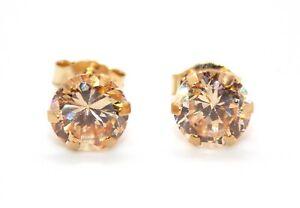 9kt Yellow Gold Morganite 1.31ct Earring (Free Gift box)