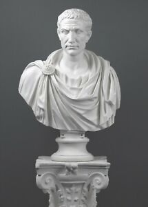 """Julius Caesar in toga Marble Bust Sculpture (Large) 80 cm (31.5"""")"""