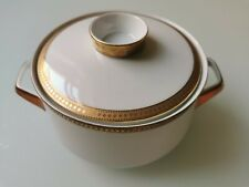 German vintage Winterling porcelain tureen or lidded dish, gold, gilt decor