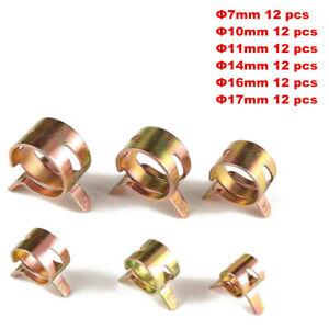 72Pcs 7-17MM Spring clip Fuel Oil Line Silicone Vacuum Hose Clamp Assorted Kit