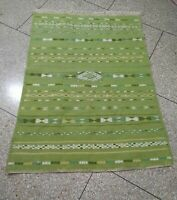 Moroccan Hand made Azilal Rug Berber Wool Vintage Hand Woven Beni ourain Glaoui