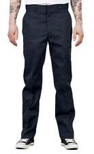 Pantaloni da uomo blu con gamba dritta