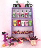 Littlest Pet Shop RANDOM 6 PC Custom Lot STARBUCKS Sweets TREATS LPS Accessories