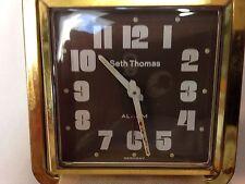 Vintage Seth Thomas Travel Alarm Clock Germany