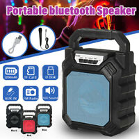 Portable Outdoor LED Wireless BT Speaker Rechargeable Stereo Radio Mic Player