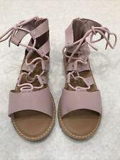 Girls Old Navy Pink Gladiator Sandles - UK 2 US 3