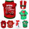 Christmas Pet Dog Shirt Jacket Clothes Santa Puppy Cat Pullover Coat Costume Hot