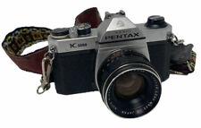 Asahi Pentax K1000 35mm SLR Camera & 55mm f1.8 Auto Lens RIKENON JAPAN STRAP