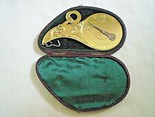 Antique Gilt Brass Hall's Patent Pendulum Letter Scale in original Case