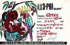 1982 VINTAGE Koala & Cockatoo QSL HAM RADIO CARD POSTCARD AX3-PAF Ballarat VIC