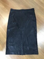 DECJUBA Faux Leather Pencil Skirt In Black Sz 14