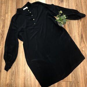 Lanvin Paris Womens Silk Tunic Dress Long Sleeve Luxe