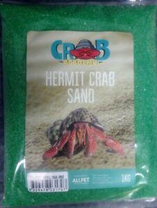 Crab Academy Green Hermit Crazy Crab Sand 1kg