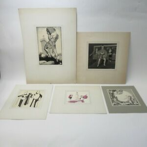 5x Art Prints by Thos. A. Godfrey Signed Various Styles Card Mounted Lot A