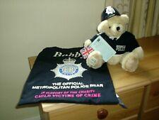 "Metropolian Police  ""The orignal Bobby Bear"" Victims of Crime Bear. New."