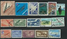 AB52  World collection of used stamps topical planes & transportation