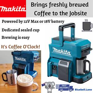 Makita Cordless Coffee Maker DCM501Z 18V - 12V Max Li-ion CXT 300W - Skin Only