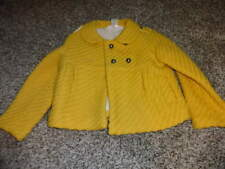 JANIE AND JACK SZ 2T-3T WINTER WHIMSY JACKET COAT YELLOW