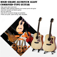 Folding Electric Acoustic Bass Guitar Stand A Frame Floor Rack Holder 0c