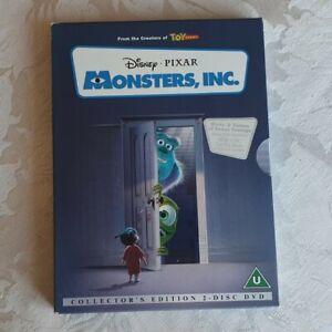 DISNEY - MONSTERS, INC. DVD (Collectors Edition) 2 Disc Set - RARE -