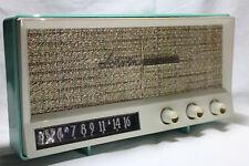 Arvin 2585 Aquamarine 1950s vintage twin speaker Am 5 tube radio works manual