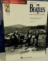 Best of the Beatles for Acoustic Guitar lessons song book Signature Licks w/ CD