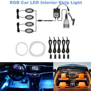 Car LED Interior Strip Light Remote Control Fiber Optic RGB Atmosphere light Kit