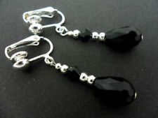 Pendientes de bisutería color principal negro de cristal