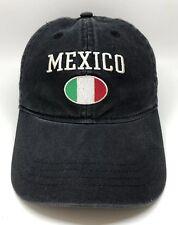 Mexico Soccer Adidas Cap Hat Adult Adjustable Black 100% Cotton
