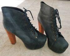 Jeffrey Campbell Litas Classic Lita Heeled Platform Boots size 9.5 Women's