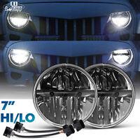"7"" inch LED Headlight for 07-15 Jeep Wrangler JK  Headlights LAND ROVER DEFENDER"