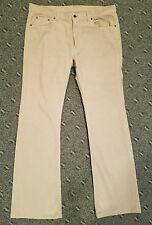 Mens Miu Miu. Prada tan khaki corduroy jeans pants 36 x 33 bootcut cotton Italy