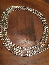 CLUB LINK   SILVER 925 CHAIN NECKLACE 22 INCH