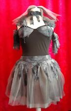 Zombie Gothic Morti Sposa Halloween Fancy Dress 12-14