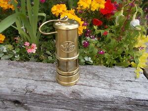 Beautiful Welsh Vintage Brass Miner's Lamp B1/3