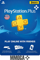 PlayStation Plus 3 Month 90 Days Card - PSN Membership Code PS3 PS4 PS Vita USA