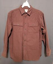 L.L. Bean Thick long sleeve button front mens brown