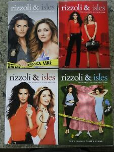 lot of 4: Rizzoli and Isles DVDs seasons 4, 5, 6, & 7